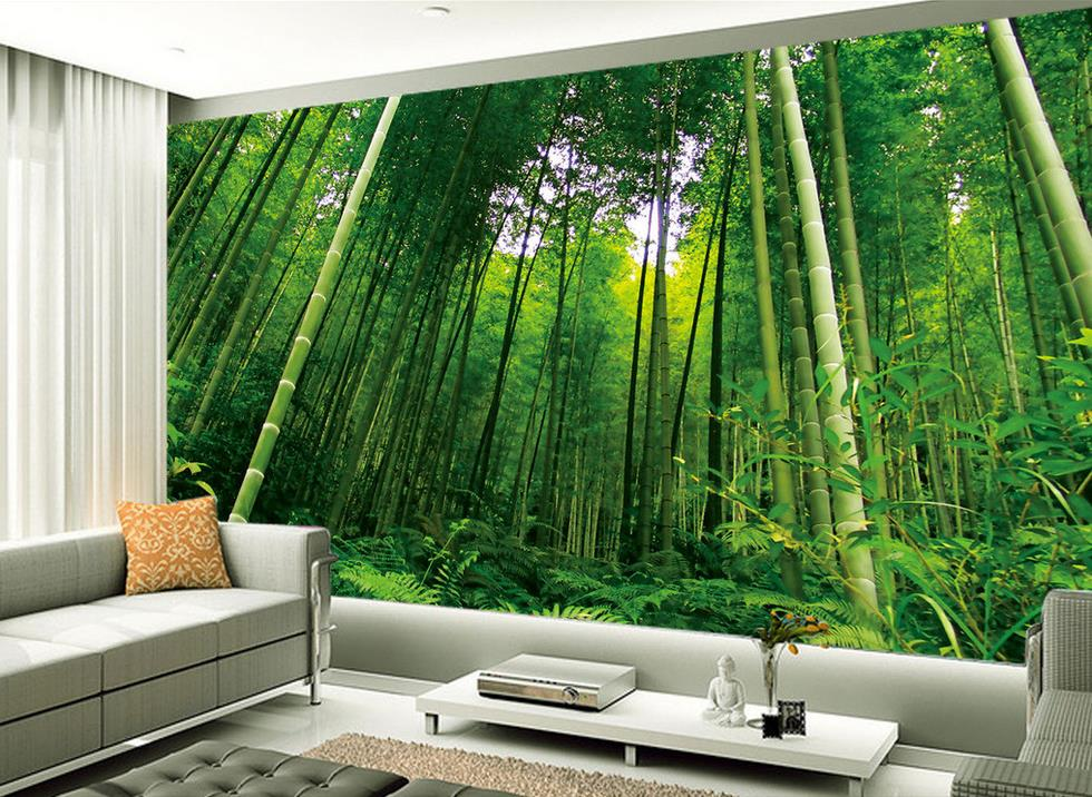 Aliexpress.com : Buy Fashion TV backdrop bamboo scenery Photo wall mural 3d wallpapers nature ...