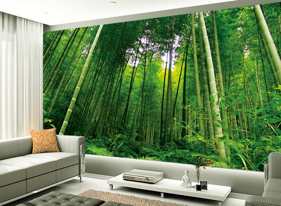 Aliexpress.com : Buy Fashion TV backdrop bamboo scenery Photo wall mural 3d wallpapers nature ...