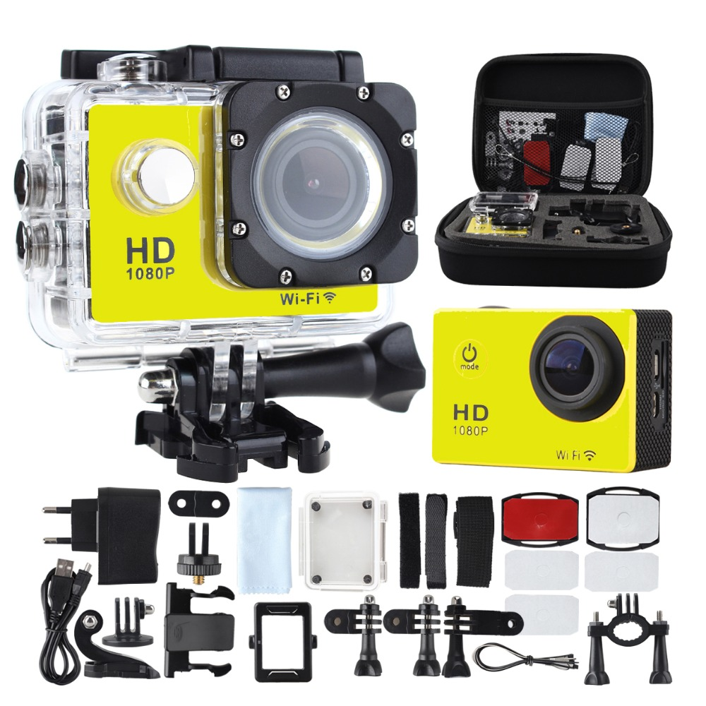 SJ4000 WIFI Action Camera Diving 30M Waterproof 1080P Full HD Go Underwater Helmet Sport Camera Sport DV 12MP Photo Pixel Camera original sjcam wifi version sj4000 wifi 1080p full hd gopro camera style extreme sport dv action camera diving 30m waterproof
