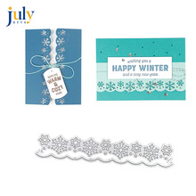 Julyarts Hollow SnowflakeCutting Dies for Scrapbooking Lace Edges Borders Metal Cutting Stanzschablonen