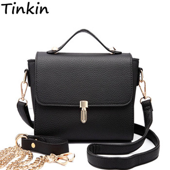 fef78bd220b3 Tinkin Women Casual PU Shoulderbag Female Elegant Handbag Daily Shopping  Crossbody Bag For Lady All-