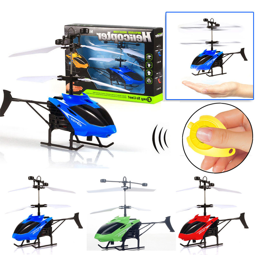 RC Quadcopter Helicopter Flying Mini RC Infraed Induction Helicopter Aircraft Flashing Light Toys For Kids18Jan19