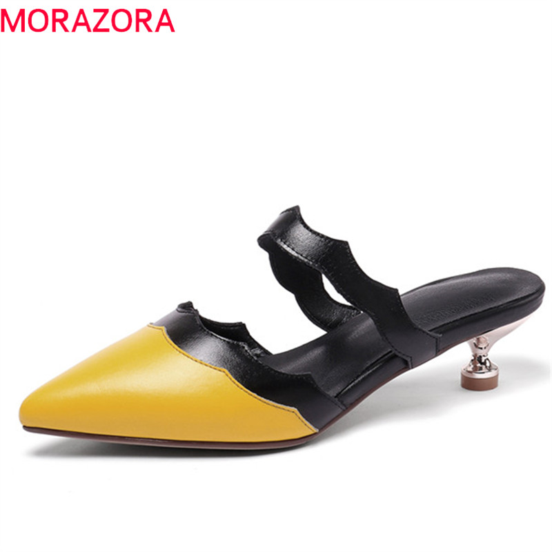 MORAZORA 2019 new arrival women pumps mixed colors slip on summer shoes sexy fashion party prom shoes woman mules shoes MORAZORA 2019 new arrival women pumps mixed colors slip on summer shoes sexy fashion party prom shoes woman mules shoes