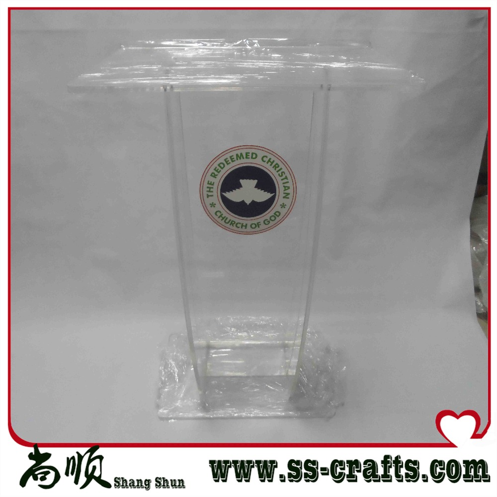 Welcome Reception Desk Bank Cafe Bar Recount Station Lectern Speakers Podiums Teaching Acrylic Lectern Brown Podium Club