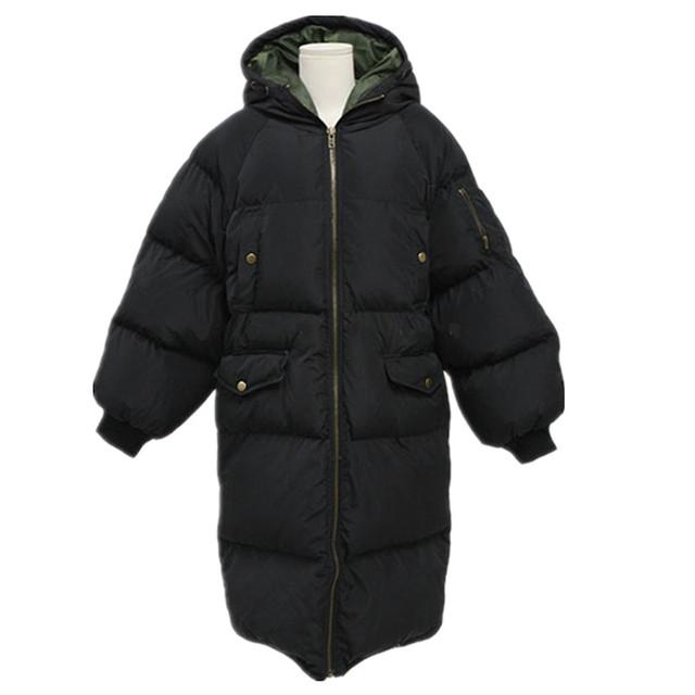 Mulheres casaco longo casaco novo para baixo De Espessura de algodão acolchoado grosso casaco corta-vento Das Mulheres Para Baixo Casaco Parka Tamanho Grande Plus Size M ~ XXXXL