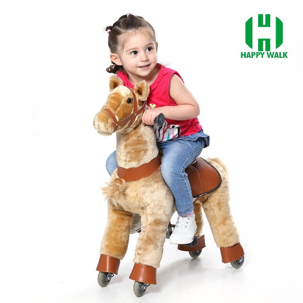 ขี่สวนสนุกบนของเล่นม้าสำหรับ 3 7Y เด็กสาวเด็กน่ารักเลื่อน Mechanical Horse ขี่สัตว์สกู๊ตเตอร์คริสต์มาสของขวัญร้อน!-ใน ภาพยนตร์และทีวี จาก ของเล่นและงานอดิเรก บน   2