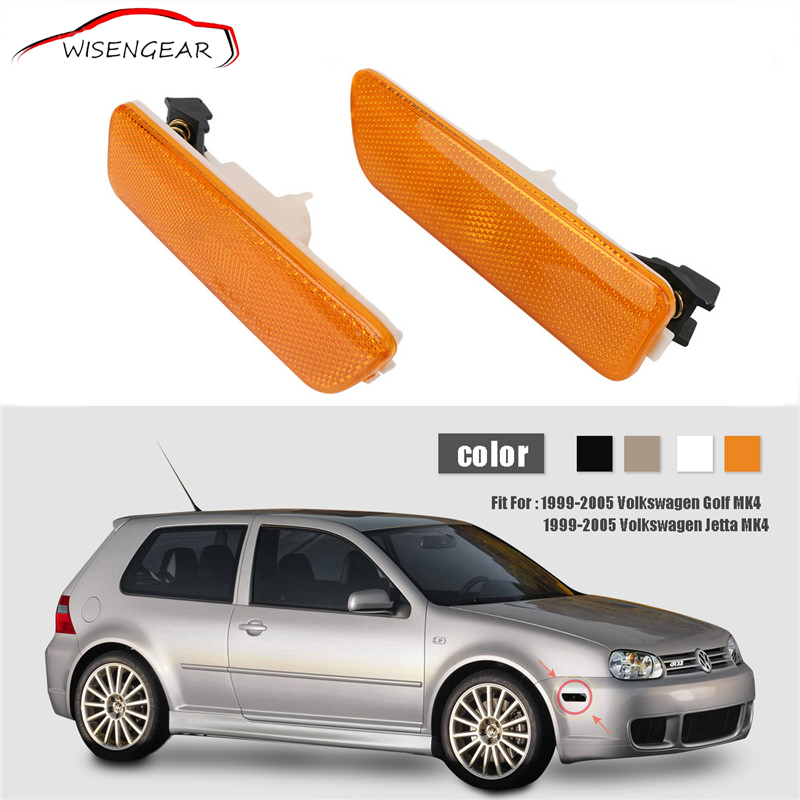 RTD Car Auto Side Marker Light Yellow Turn Signal Lamp Cover For VW Jetta Golf 4 MK4 1999-2005 Front Bumper Indicator Light / golf cap clip golf ball marker set