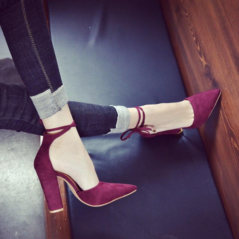 blue Noir Taille Chaussures black Mode Troupeau D'été Red Bureau Party Dames Sexy Grande wine Talons Mariage Pompes De Haute Apricot Femmes Up gray Dentelle VqSMpUzG