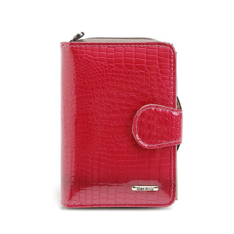 2017 Bästsäljande! Kvalitet Mode Kvinnor Kort Äkta Läder Plånbok Cowhide Lady Ctutch Bag Multifunktion Kvinna Pengar Väska