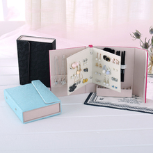 Luxury PU Leather Jewelry Box Book Girl Women Earring Necklace Makeup Rectangle Organizer Storage Packaging Travel Party Gifts
