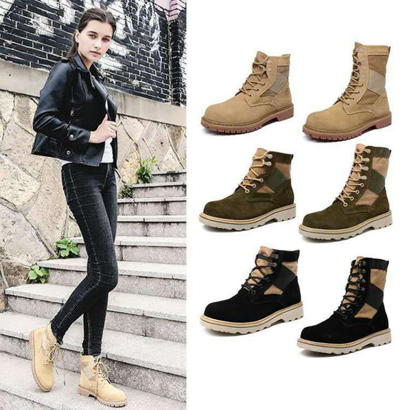 Jookrrix 2017 New Autumn Fashion Women Motorcycle Boots Genuine Leather Lady All-match Shoes British Style Ankle Black High Top arrylinfashion british fashion all match ankle boots top leather autumn botas femininas pointed toe charming thin high heels