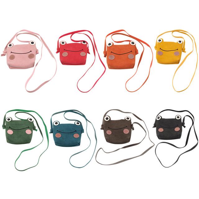 Children Kids Princess Small Cute Shoulder Bag Girls Animal Frog Mini PU Coins Changes Holder Bags MSJ99