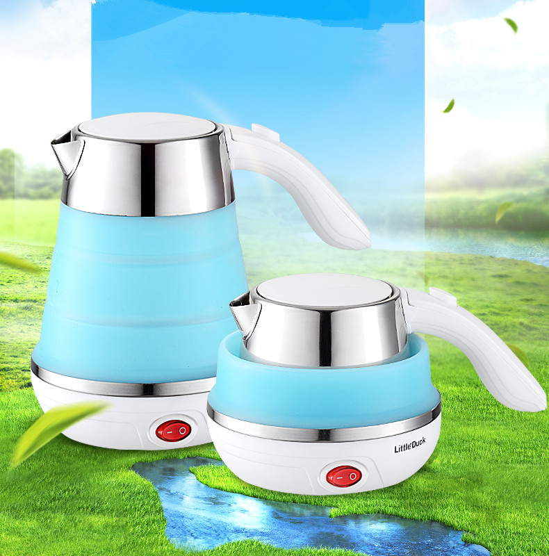 110-220V Electric Kettle Silicone Foldable Automatic Power-off Travel Camping Portable Water Boiler Dural Voltage Travel Kettle110-220V Electric Kettle Silicone Foldable Automatic Power-off Travel Camping Portable Water Boiler Dural Voltage Travel Kettle