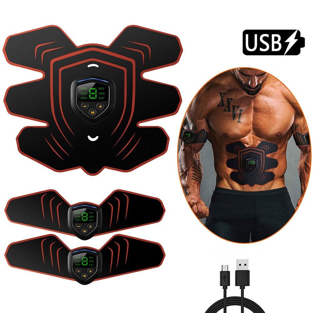 Vibração fitness massageador muscular abdominal estimulador toner casa ginásio eletroestimulação abs trainer ems instrumento de treinamento