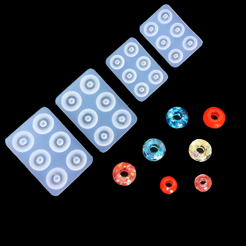 4 Styles Round Diamond Beads Mold Pendant Clear Mold DIY Bracelet Tool Hand Craft Jewelry Making Mould Resin Molds For Jewelry
