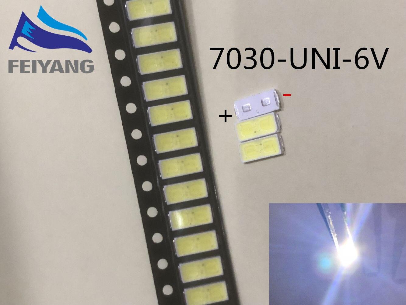 100PCS Maintenance of UNI LED LCD TV backlight lamp with light emitting diode 6V tube 7030 SMD beads UNI