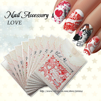 Wholesale New Arrival Water Transfer Nail Art Sticker Beauty Decal Tips Decoration finger toe tattoo 200packs/lot free shipping