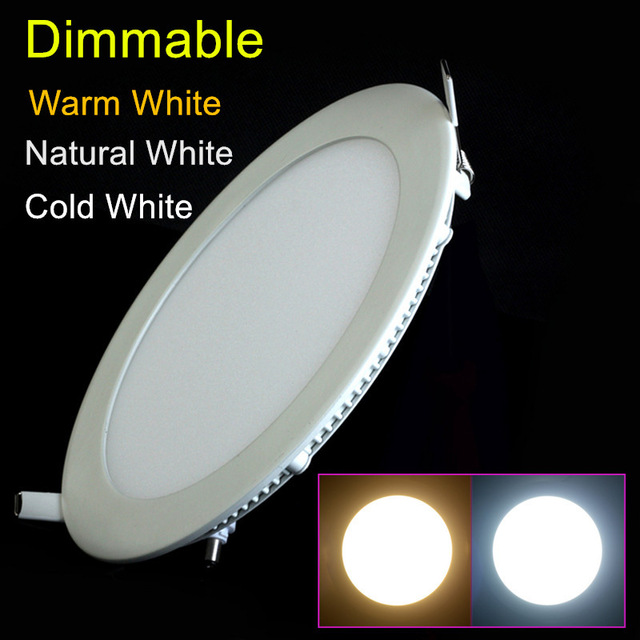 3W/6W/9W/12W/15W/25W round dimmable LED downlight emergency LED panel / painel light lamp for bedroom luminaire