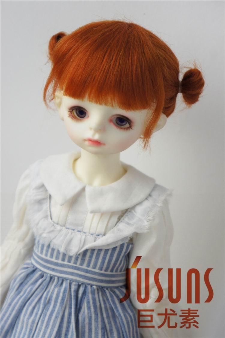 JD415 большой размер две косы BJD мохер парики в размере 8-9 дюймов 10-11 дюймов для кукол мягкие модные волосы куклы аксессуары - Цвет: 8-9inch Carrot