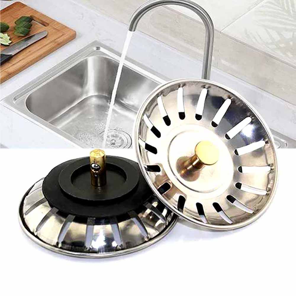 2pcs replacement strainer waste kitchen sink plugs fits most modern sinks-in colanders