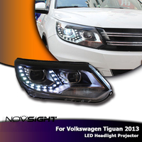 NOVSIGHT 2PCS LED Headlights Projector Assembly Light w/ Turn Signal Car Light Assembly For VW Tiguan 2013
