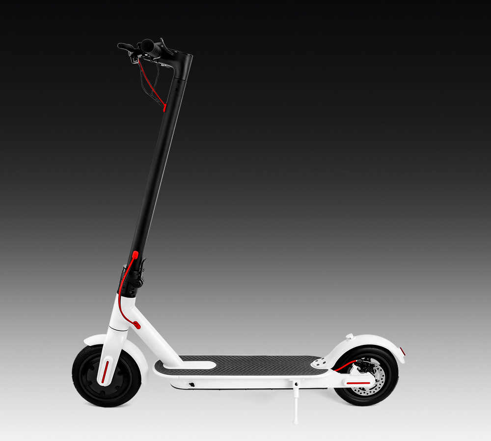 RU Scooter Foldable 2 Wheels Folding Auto Balance Foot Kick Scooter Electric Foldable Skateboard 8.5 inch Electric Scooter