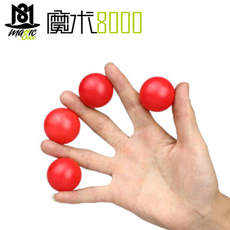 Multiplying Balls ( Metal, Red/White Color ) - Magic Tricks One To Four Balls Stage Magic Accessories Magician Magic