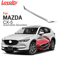 Loyalty for Mazda CX5 CX 5 2017 2018 Front Grille Hood Engine Cover Trim ABS Chrome Car Accessories Auto Styling