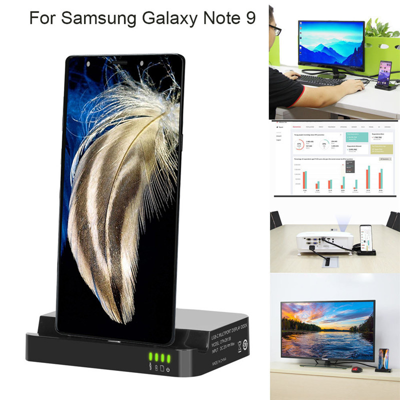 HIPERDEAL HDMI Dex Station Desktop Extension Charging Dock For Samsung Galaxy Note 9 temei charging dock station w battery slot for samsung galaxy s4 i9500 white