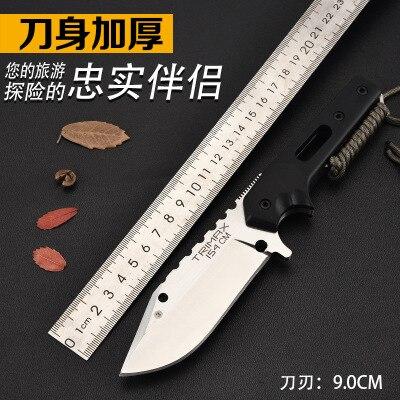 Couteau portatif tactique de survie de l'armée couteau de chasse droit de dureté élevée outil essentiel d'auto-défense CS GO 440C lame