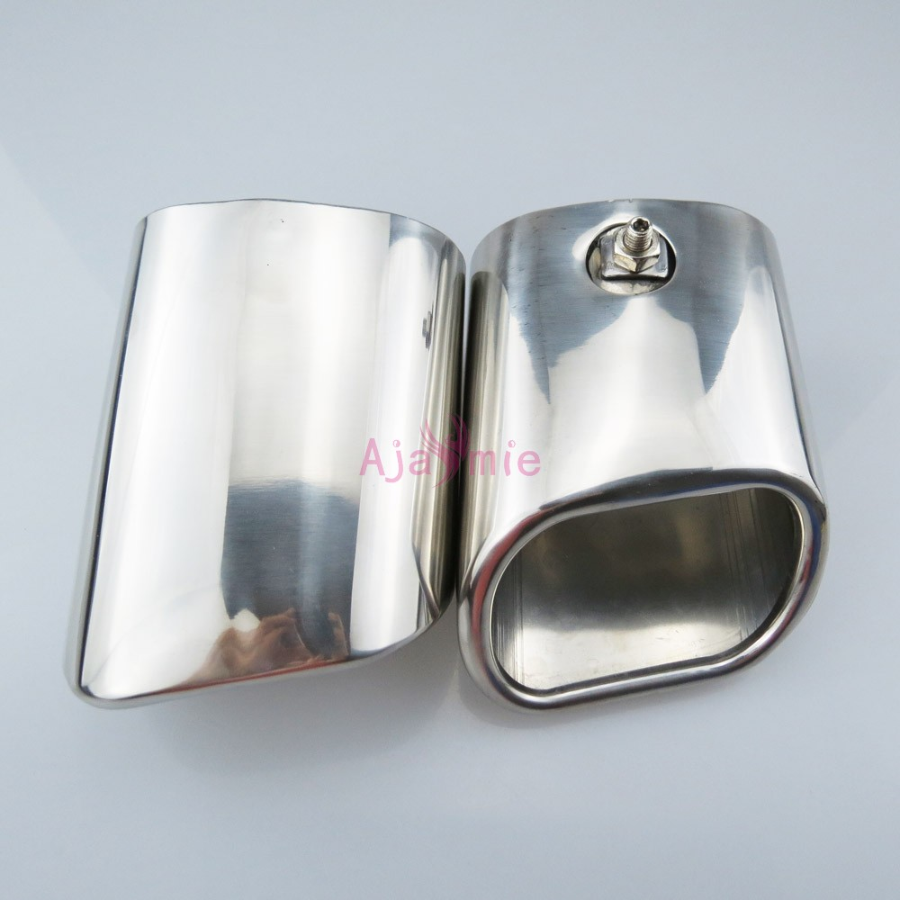 #304 Stainless Steel Rear Tail Exhaust Muffler Tip End Pipe Silencer Car Styling For Mercedes Benz GLK Accessories#304 Stainless Steel Rear Tail Exhaust Muffler Tip End Pipe Silencer Car Styling For Mercedes Benz GLK Accessories