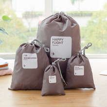 4 Sets Portable Drawstring Bag Waterproof Storage Bags Travel Organizer Housekeeping Pouch Clothing Shoes Pocket