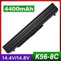 4400 mah bateria do portátil para asus a31-k56 a32-k56 a41-k56 a42-k56 k56c k56cm k56v r405c r405v r505c r550c s40c s405c s46c s505c