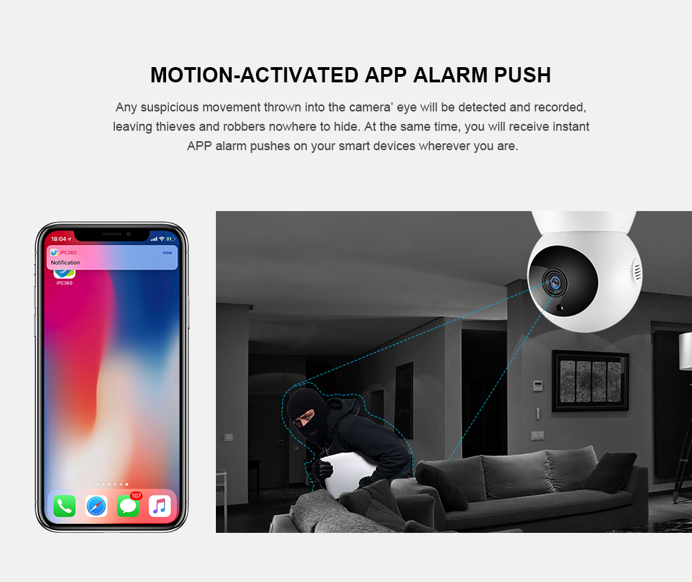ANNKE Home Security IP Camera Wi-Fi 1080P Wireless Network Camera CCTV  Camera Surveillance P2P Night Vision Baby Monitor Cam