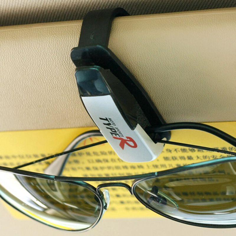 Venda quente abs car veículos pala de sol óculos de sol óculos de cartão pen ticket holder clip acessórios automotivos # hp