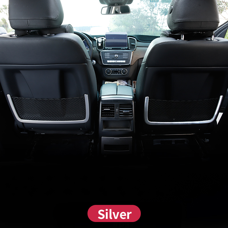 Seat Back Net Frame Decoration Cover Sitcker Trim For Mercedes Benz GLE 350d W166 ML350  GL450 X166 GLS Amg Lnterior Accessories