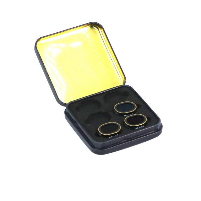 3 pièces Drone Spark Filtres ND ND4 + ND8 + ND16 HD lentille de Filtre de protection Pour DJI Spark Drone Accessoires