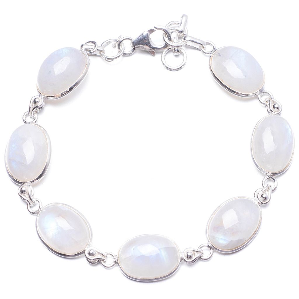 Natural Rainbow Moonstone Handmade Unique 925 Sterling Silver Bracelet 7 1/4-8 1/4 Y2016 remo 1631 rc truck 1 16 2 4g 4wd brushed off road monster truck smax rc remote control cars with transmitter rtr electric car