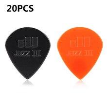 20 pçs picaretas de guitarra tortex jazz iii xl picareta plectrum mediador peças de guitarra acessório colorido picaretas de guitarra