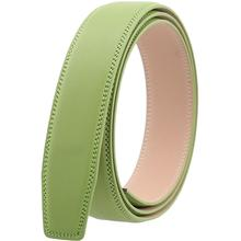 3.5 CM Width Green Belt Strap without Buckle Square Tail Genuine Leather High Quality Men Automatic Belt Body Wholesale