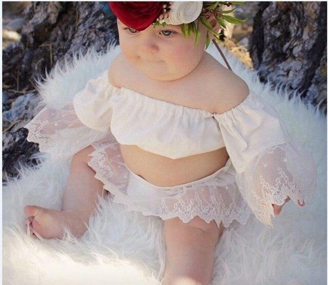 b1a279af979f 2017 Summer Princess Girls White Lace Romper 0-24M Newborn Baby Girls Off  shoulder One Pieces Toddler Kids Jumpsuit Sunsuit