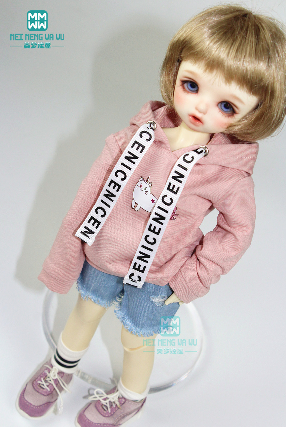 <font><b>BJD</b></font> accessories fashion three-piece casual sweater Raw shorts and socks for 27cm-30cm <font><b>1/6</b></font> <font><b>BJD</b></font> YOSD doll <font><b>clothes</b></font> image