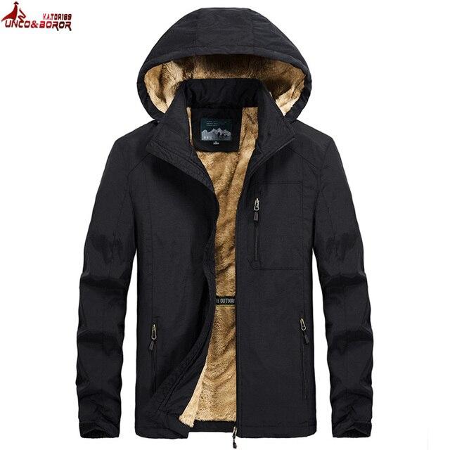 Brand winter coat men warm wool liner casual men`s windbreaker bomber jacket Detachable Hooded parka coat men clothes 3