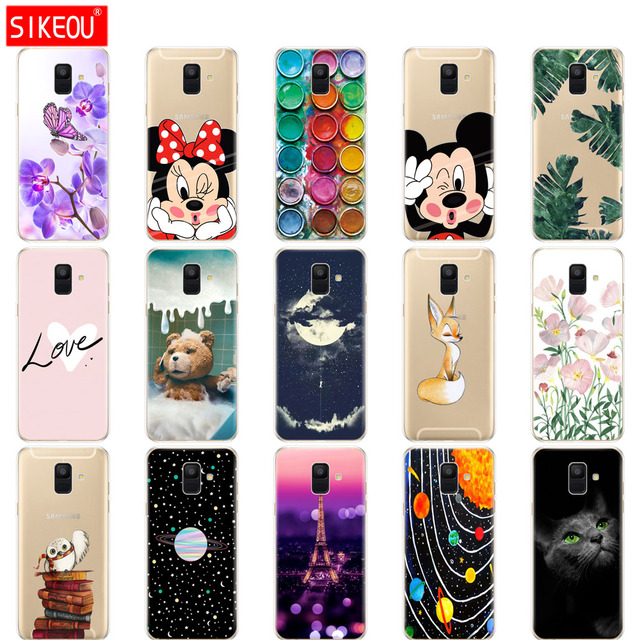 check out f51a2 0b922 US $1.21 24% OFF|Silicon Phone Case For Samsung Galaxy A6 2018 Dual SIM SM  A600 A600F Soft Tpu Back Cover For Samsung A6 Plus 2018 A605 A605F cat-in  ...