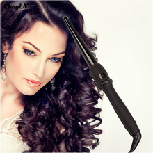 CkeyiN LCD Pro Hair Curler Roller Styler Heating Hair Styling Tools Automatic Hair Curl Magic Cone Hair Curlers Wand EU US Plug