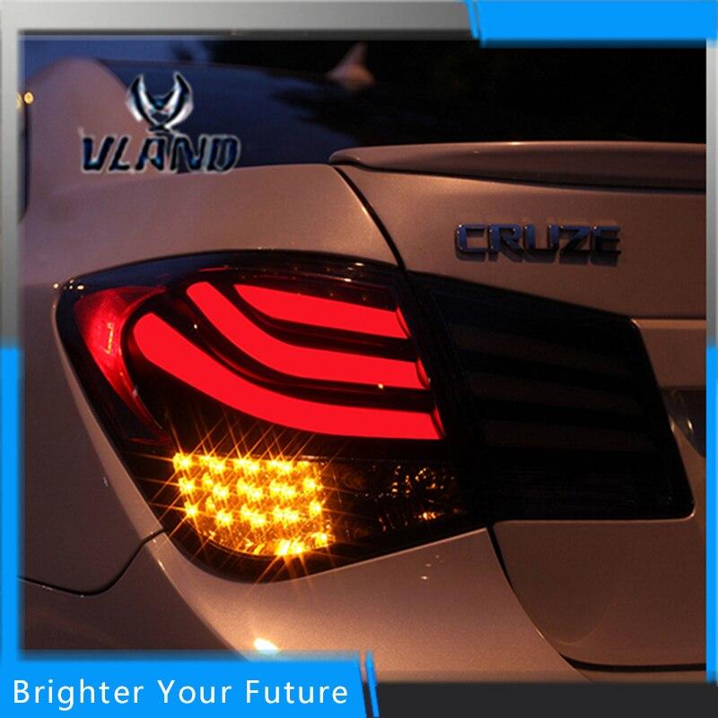 Авто светодиодные задние фонари заднего Лампы для мотоциклов красного цвета для Chevrolet Cruze 2010 2014 задние фонари