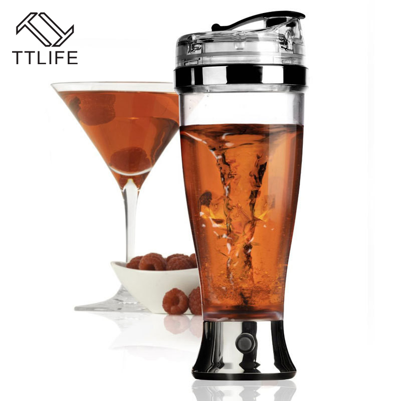 TTLIFE Stainless Steel Automatic cocktail shaker Electric self stiring mug Cocktail juice fruit juice Mixer tools random color