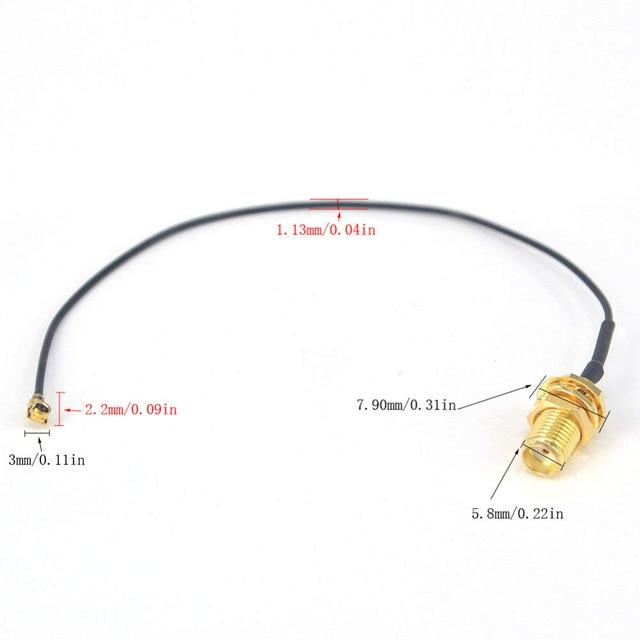 Mini connecteur PCI U.FL à SMA 100 pièces   Câble de connexion dantenne WiFi, câble dextension IPX à SMA