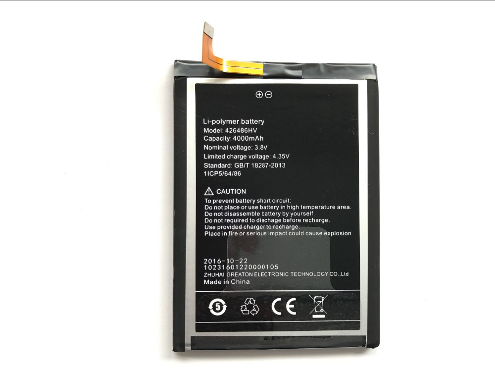 Umi Plus Battery Replacement 426486HV High Quality Large Capacity 4000mAh Back Up Battery For Umi Plus E Smart Phone