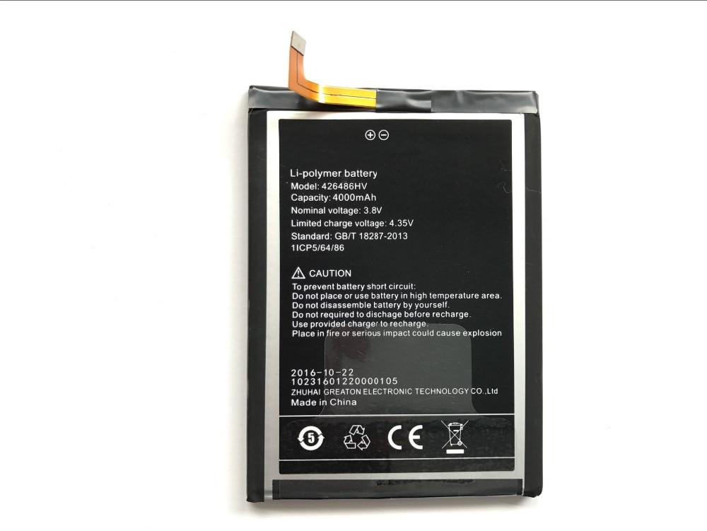 imágenes para Umi plus 426486hv alta calidad de gran capacidad 4000 mah reemplazo de la batería back up batería para umi plus e inteligente teléfono